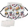 Chef/Food Pattern - Adult Face Masks - 2 Filters Included - AFM 0020