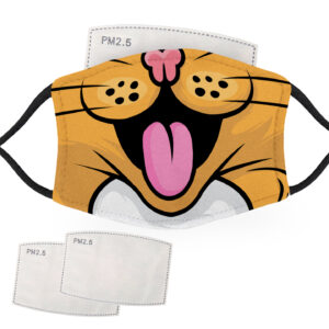 Cat Face – Adult Face Masks – 2 Filters Included