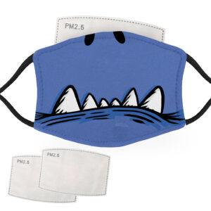 Blue Monster Face – Adult Face Masks – 2 Filters Included