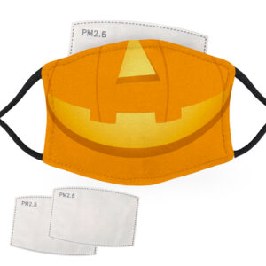 Halloween Pumpkin Face – Adult Face Masks – 2 Filters Included