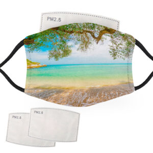 Tropical Beach Escape – Adult Face Masks – 2 Filters Included