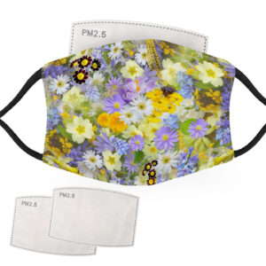 Wild Flowers – Adult Face Masks – 2 Filters Included
