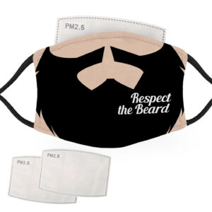 Respect the Beard – Pale Skin – Adult Face Masks – 2 Filters Included