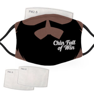 Chin Full of Win Beard – Dark Skin – Adult Face Masks – 2 Filters Included