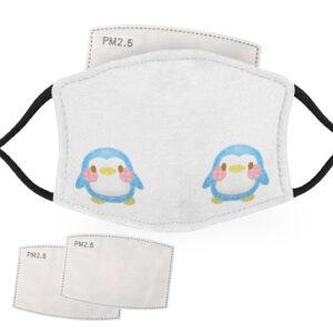 Cute Blue – Penguin Design – Adult Face Masks – 2 Filters Included