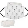Sketched - Penguin Design - Adult Face Masks - 2 Filters Included - AFM 0118