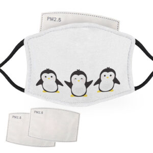 Three Happy – Penguin Design – Adult Face Masks – 2 Filters Included