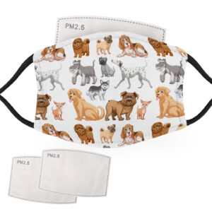 Dog Animal Pattern – Child Face Masks – 2 Filters Included