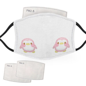 Cute Pink – Penguin Design – Child Face Masks – 2 Filters Included