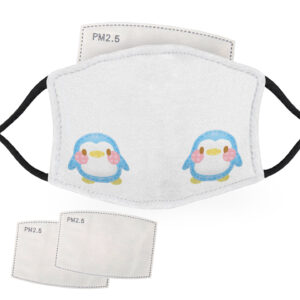 Cute Blue – Penguin Design – Child Face Masks – 2 Filters Included
