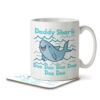 Daddy Shark - Mug and Coaster - MNC DAD 060 WHITE