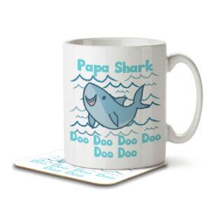 Papa Shark – Mug and Coaster