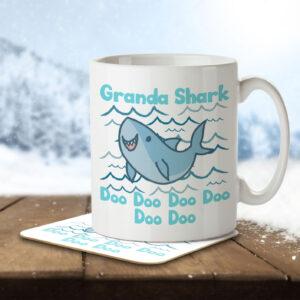Granda Shark – Mug and Coaster