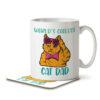 World's Coolest Cat Dad - Mug and Coaster - MNC DAD 074 WHITE