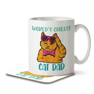 World's Coolest Cat Dad – Mug and Coaster