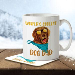 World's Coolest Dog Dad – Mug and Coaster
