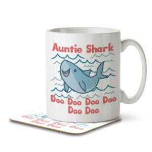 Auntie Shark – Mug and Coaster