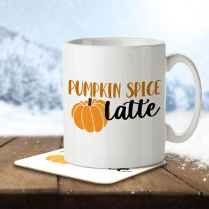 Pumpkin Spice Latte – Coffee – Mug and Coaster