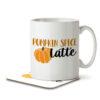 Pumpkin Spice Latte - Coffee - Mug and Coaster - MNC FUN 085 WHITE
