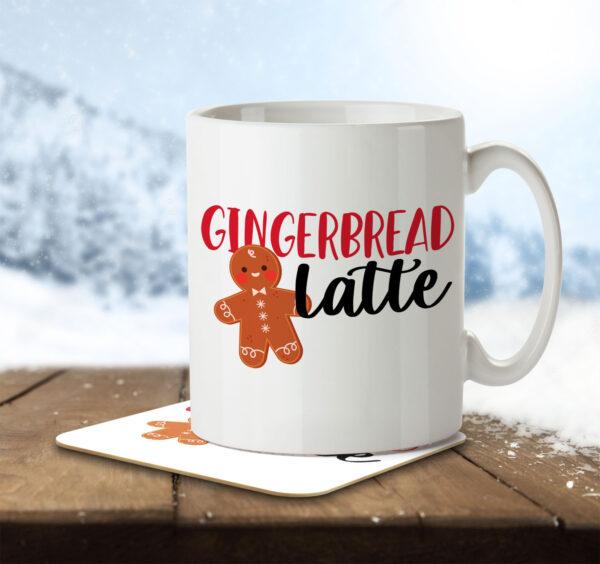 Gingerbread Latte - Christmas Coffee - Mug and Coaster - MNC FUN 086 ENV