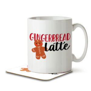 Gingerbread Latte – Christmas Coffee – Mug and Coaster