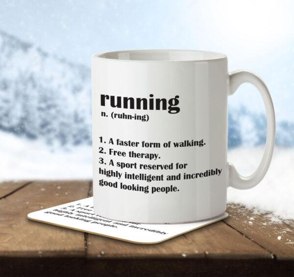 Running Funny Definition - Mug and Coaster - MNC FUN 102 ENV