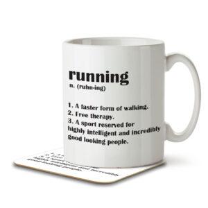 Running Funny Definition – Mug and Coaster