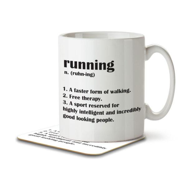 Running Funny Definition - Mug and Coaster - MNC FUN 102 WHITE