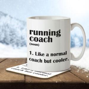 Running Coach Funny Definition – Mug and Coaster