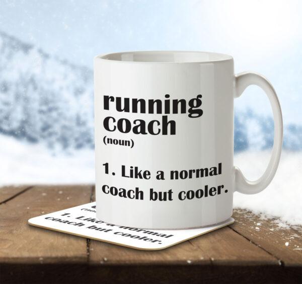 Running Coach Funny Definition - Mug and Coaster - MNC FUN 104 ENV