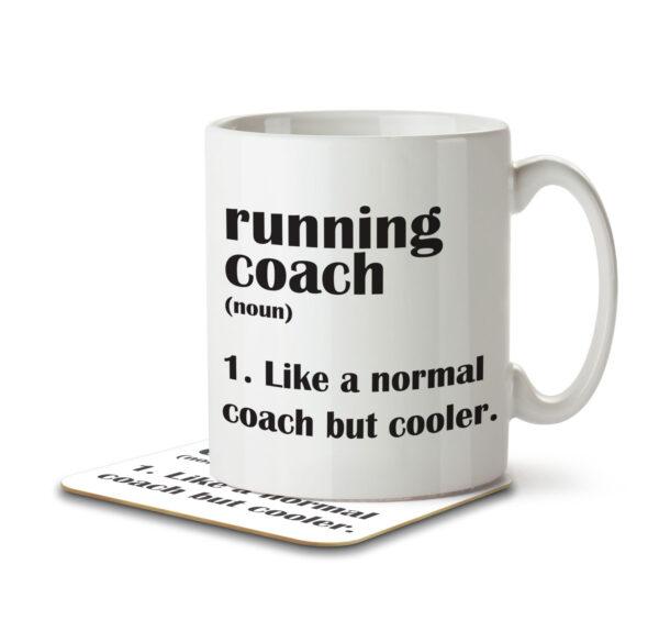 Running Coach Funny Definition - Mug and Coaster - MNC FUN 104 WHITE