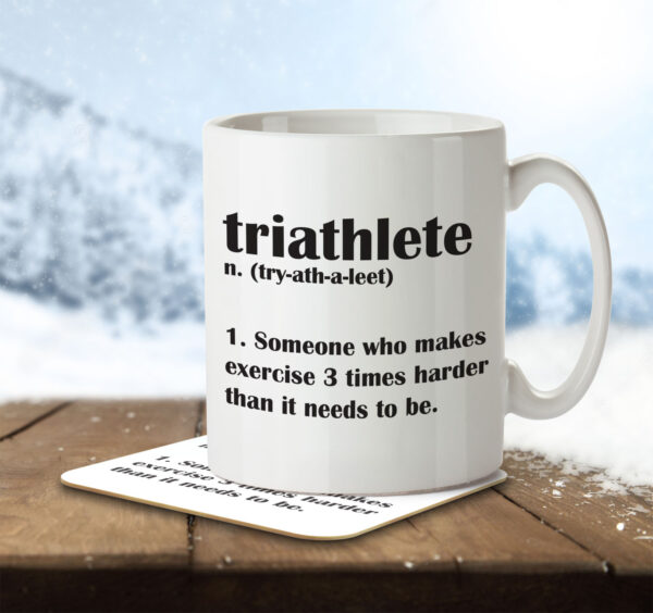Triathlete Funny Definition - Mug and Coaster - MNC FUN 105 ENV