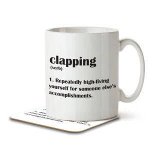 Clapping Funny Definition – Mug and Coaster