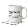 Vegetarian Funny Definition - Mug and Coaster - MNC FUN 108 WHITE