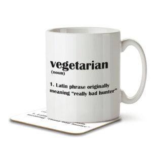 Vegetarian Funny Definition – Mug and Coaster