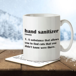 Hand Sanitizer Funny Definition – Mug and Coaster