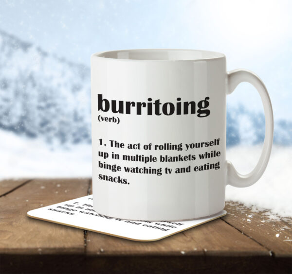 Burritoing Funny Definition - Couch Burrito - Mug and Coaster - MNC FUN 112 ENV