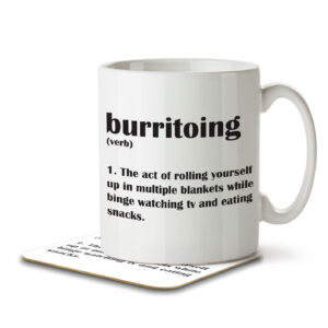 Burritoing Funny Definition – Couch Burrito – Mug and Coaster