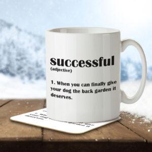 Successful Funny Definition – Mug and Coaster