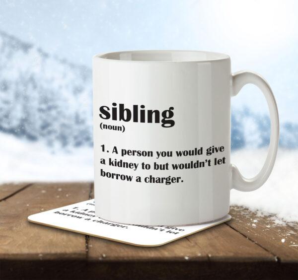 Sibling Funny Definition - Mug and Coaster - MNC FUN 114 ENV