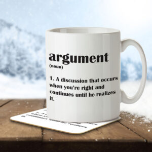 Argument Funny Definition – Anniversary – Mug and Coaster