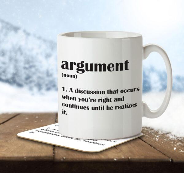 Argument Funny Definition - Anniversary - Mug and Coaster - MNC FUN 117 ENV