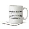 English Teacher Funny Definition - Mug and Coaster - MNC FUN 119 WHITE