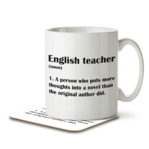 English Teacher Funny Definition – Mug and Coaster