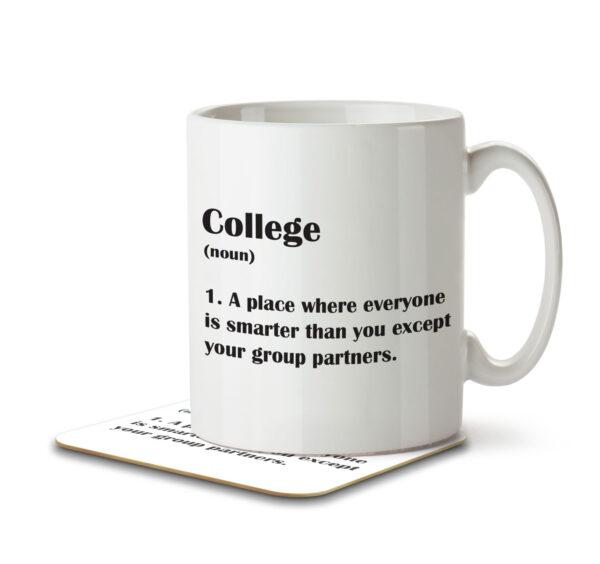 College Funny Definition - Mug and Coaster - MNC FUN 120 WHITE