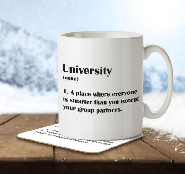 University Funny Definition - Mug and Coaster - MNC FUN 121 ENV