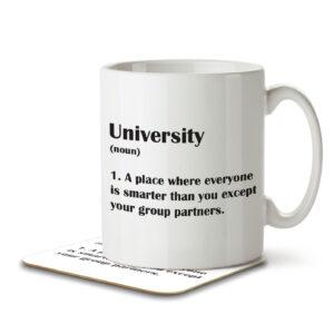 University Funny Definition – Mug and Coaster