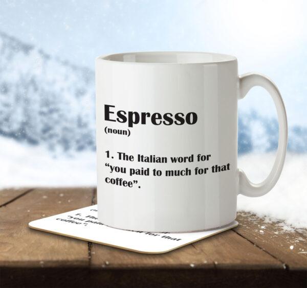 Espresso Funny Definition - Coffee - Mug and Coaster - MNC FUN 124 ENV