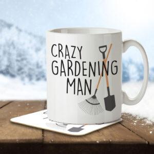 Crazy Gardening Man – Mug and Coaster