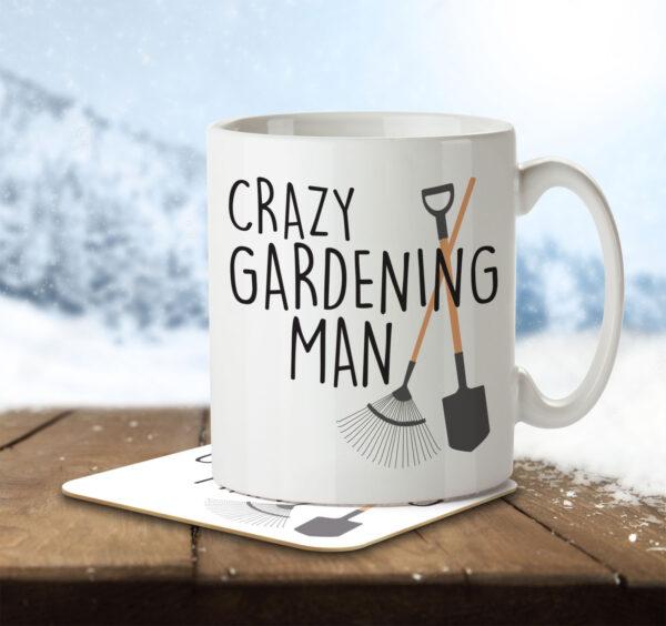 Crazy Gardening Man - Mug and Coaster - MNC HOB 041 ENV